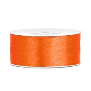Saténová stuha, oranžová, 25mm/25m (1 kus / 25 bm)