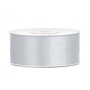 Saténová stuha, stříbrná, 25mm/25m (1 kus / 25 bm )