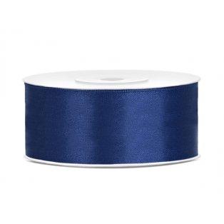 Saténová stuha, námořnická modrá, 25mm/25m (1 kus / 25 bm)