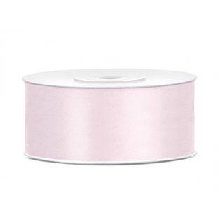Saténová stuha, světle pudrově růžová, 25mm/25m (1 kus / 25 bm)