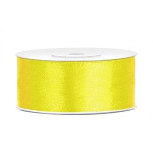 Saténová stuha, žlutá, 25mm/25m (1 kus / 25 bm)