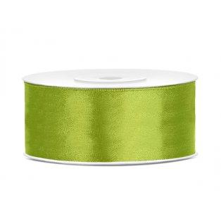 Saténová stuha, jablíčkově zelená, 25mm/25m (1 kus / 25 bm)
