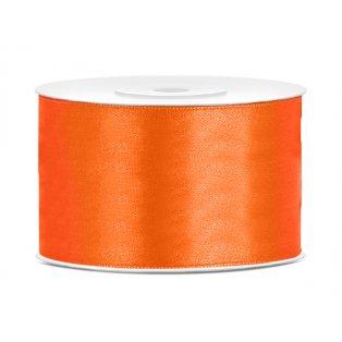Saténová stuha, oranžová, 38mm/25m