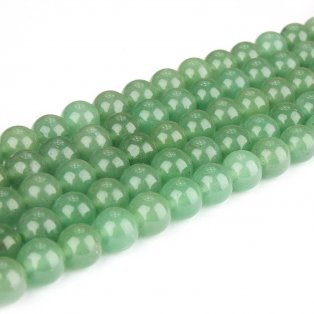 Přírodní zelený avanturín - ∅ 8 mm - 1 ks