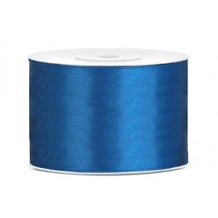 Saténová stuha, modrá, 50mm/25m