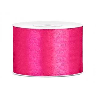 Saténová stuha, neonověově růžová, 50mm/25m