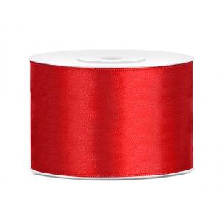 Saténová stuha, červená, 50mm/25m