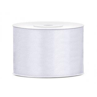 Saténová stuha, bílá, 50mm/25m