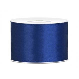 Saténová stuha, námořnická modrá, 50mm/25m