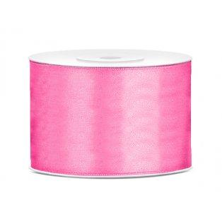 Saténová stuha, růžová, 50mm/25m