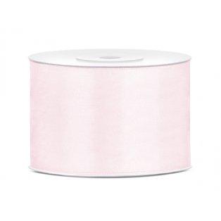 Saténová stuha, světle pudrově růžová, 50mm/25m