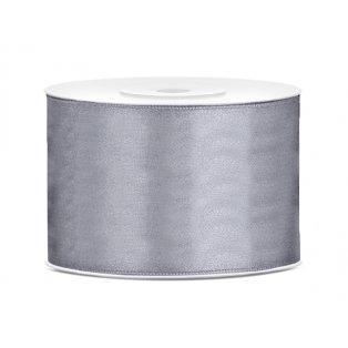 Saténová stuha, šedá, 50mm/25m
