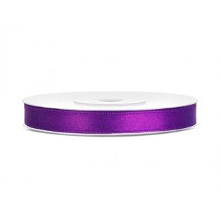 Saténová stuha, fialová, 6mm/25m