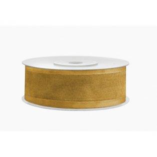 Šifónová stuha, zlatá, 25mm/25m (1 kus / 25 bm)