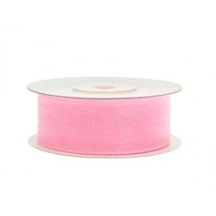 Šifónová stuha, světle růžová, 25mm/25m