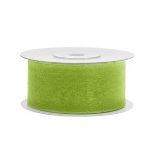 Šifónová stuha, jablíčkově zelená, 38mm/25m