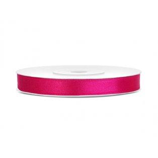 Saténová stuha, neonověově růžová, 6mm/25m (1 kus / 25 bm)