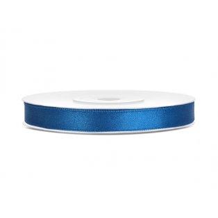 Saténová stuha, modrá, 6mm/25m