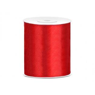 Saténová stuha, červená, 100mm/25m