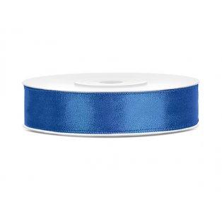 Saténová stuha, královsky modrá, 12mm/25m (1 kus / 25 bm)