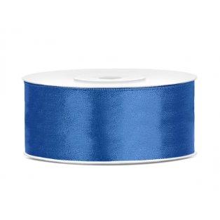 Saténová stuha, královsky modrá, 25mm/25m (1 kus / 25 bm)