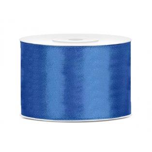 Saténová stuha, královsky modrá, 50mm/25m