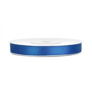 Saténová stuha, královsky modrá, 6mm/25m