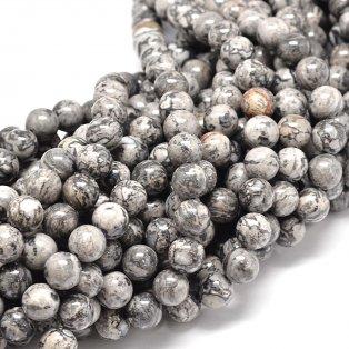 Přírodní šedý jaspis - ∅ 10 mm - 1 ks