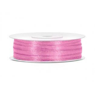 Saténová stuha, růžová, 3mm/50m