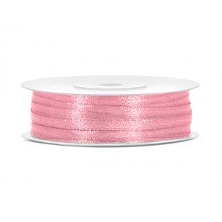 Saténová stuha, světle růžová, 3mm/50m