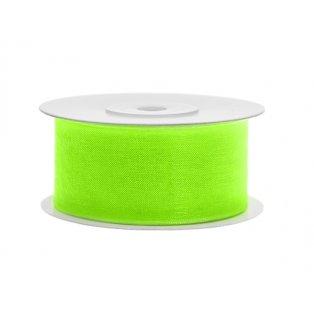 Šifónová stuha, neonově světle zelená, 38mm/25m