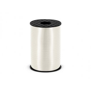 Vázací stuha, bílá, 5mm/225m