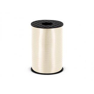 Vázací stuha, světle krémová, 5mm/225m