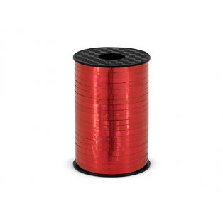 Vázací stuha, červená, 5mm/225m