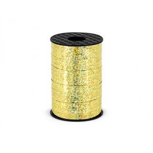 Vázací stuha, zlatá, 5mm/225m
