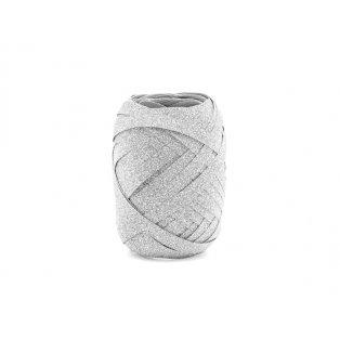 Vázací stuha, stříbrná, 5mm/10m