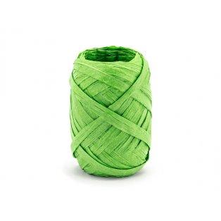 Raffia stuha, 5mm/10m, zelená