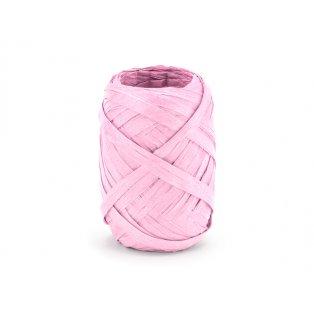 Raffia stuha, 5mm/10m, růžová