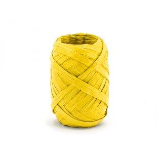 Raffia stuha, 5mm/10m, žlutá