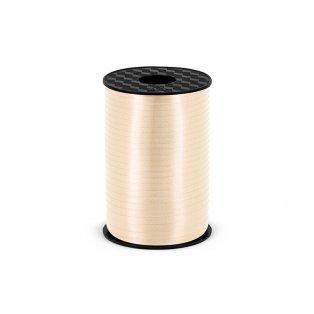 Vázací stuha, krémová, 5mm/225m