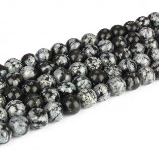Přírodní vločkový obsidián - ∅ 10 mm - 1 ks