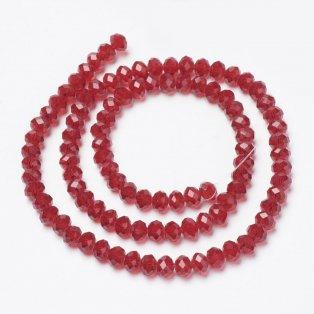 Broušené korálky - slavík - červené - 8 x 8 x 6 mm - 10 ks
