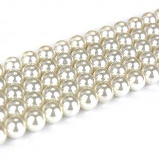 Přírodní shell perla - bílá - ∅ 8 mm - 1 ks