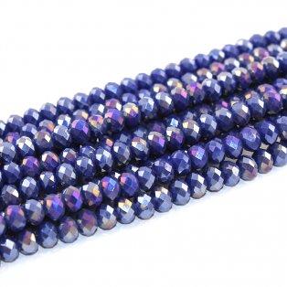 Broušené korálky - fialové - 8 x 6 mm - 10 ks
