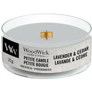 Woodwick svíčka - petite/Lavender & Cedar