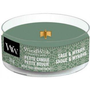 WoodWick Sage & Myrth svíčka petite