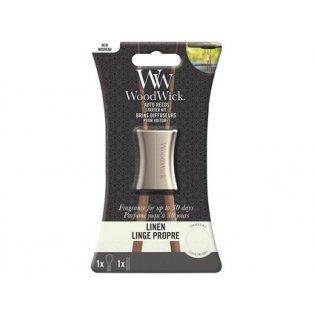 Woodwick svíčka - Auto Reeds Kit/Linen