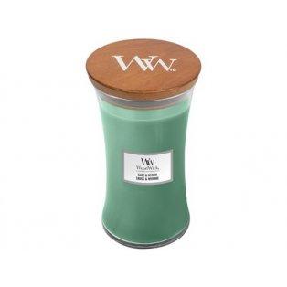 Woodwick svíčka - sklo velké/Sage & Myrrh