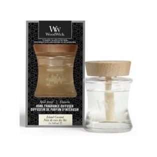 Woodwick Aroma difuzér s víčkem proti vylití Island Coconut