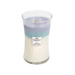 Woodwick svíčka - Trilogy sklo velké/Calming Retreat 02/20